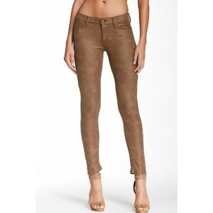 Mother The Looker Crackled Tan Jeans Size 26